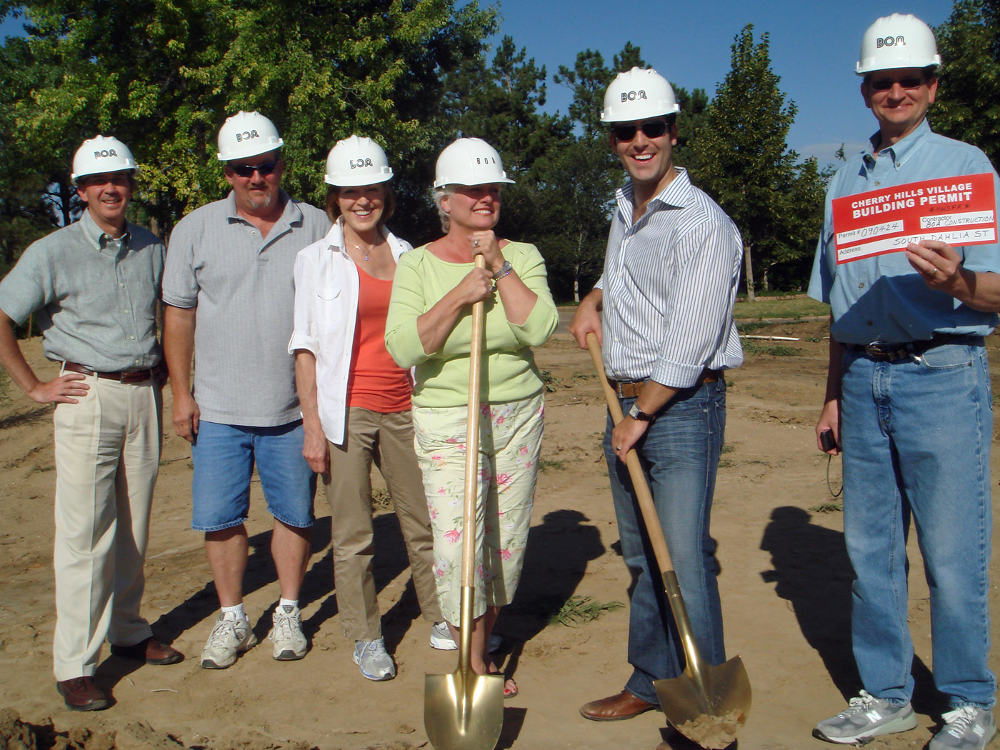2009 0819 – Crescent House Ground Breaking