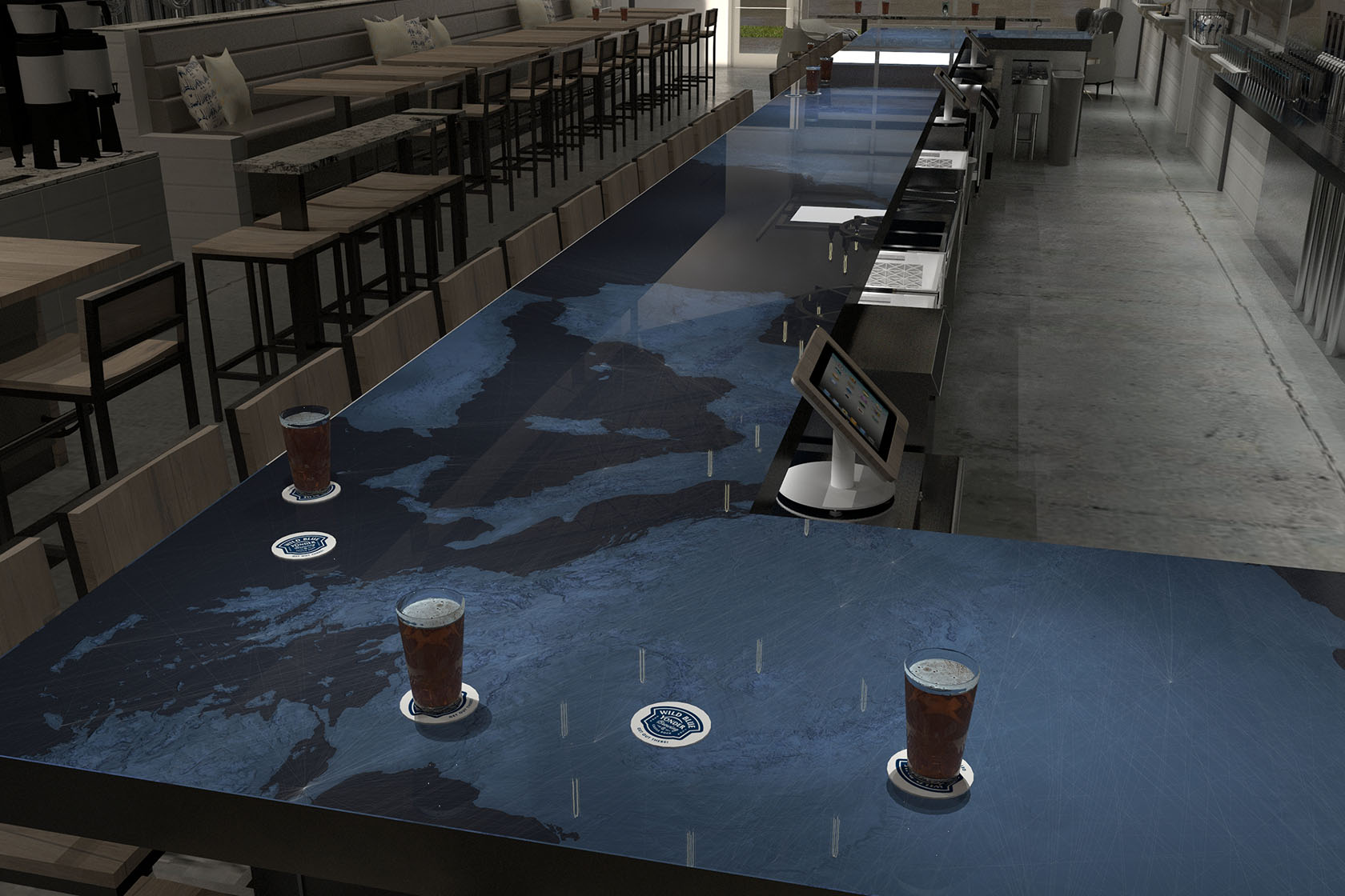 Wild Blue Yonder Bar Design