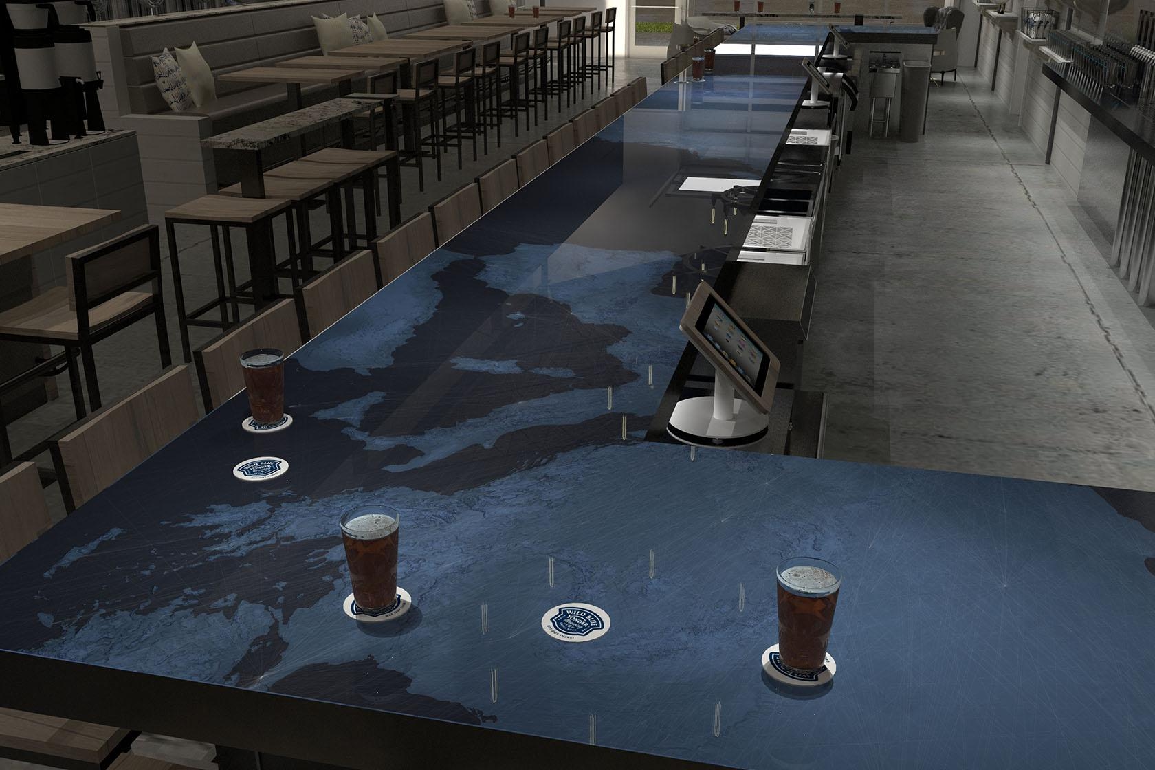 Wild Blue Yonder Bar Design